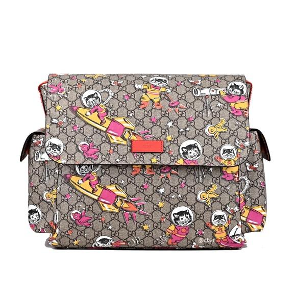 c99e8f2160096f Gucci GG Supreme Canvas Cat Space Moon Diaper Bag